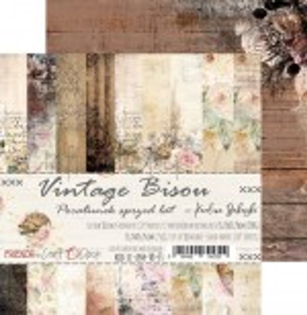 Craft O' Clock - 6x6 Paper Collection 18/Pkg - Vintage Bisou (CC-ZPM-VB-F3)