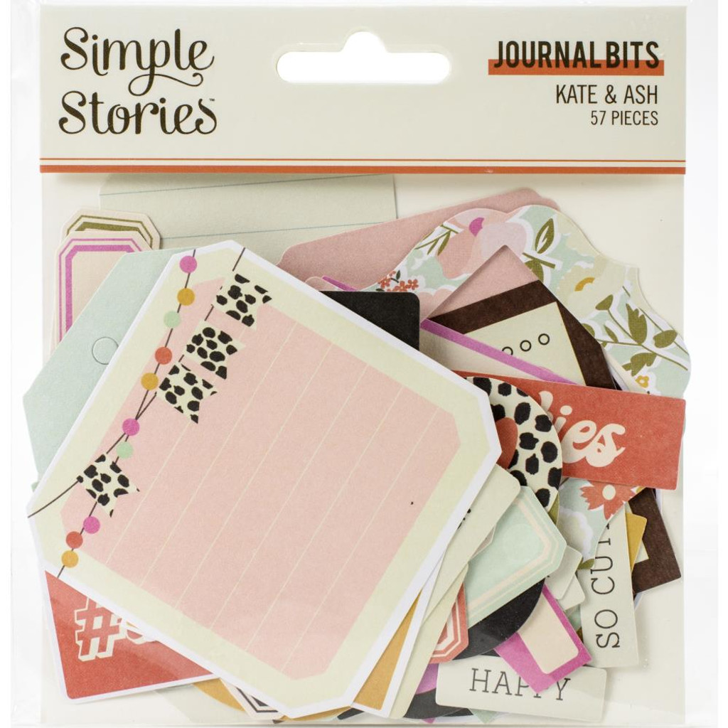 Simple Stories - Bits and Pieces Die Cuts 57/Pkg - Kate & Ash - Journal (KA13117)