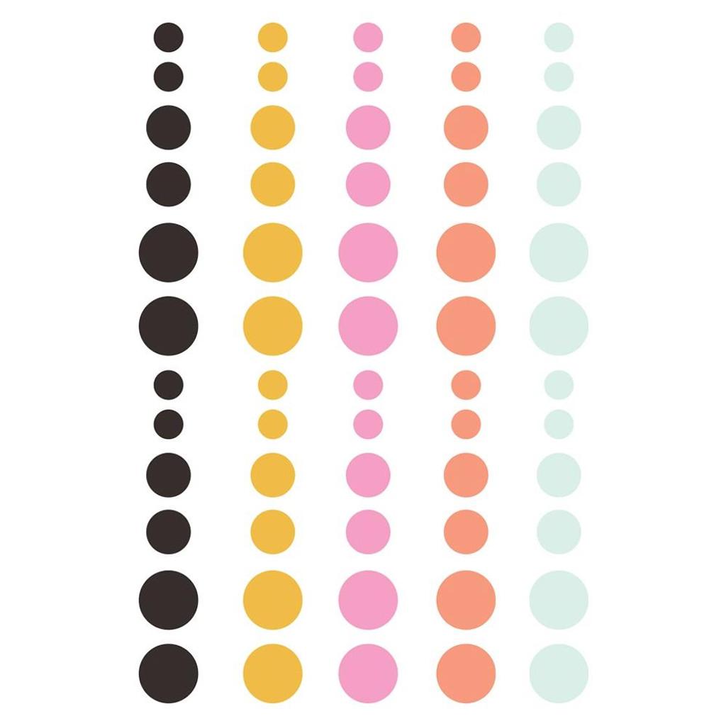 Simple Stories - Enamel Dots 60?pkg- Kate & Ash (KA13121)