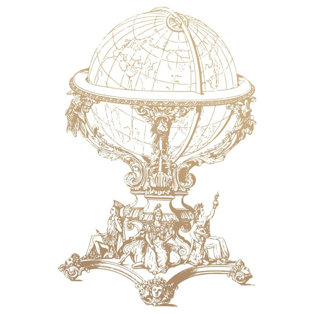 Couture Creations - New Adventures - Mini Stamp - Vintage Globe (CO727784)
