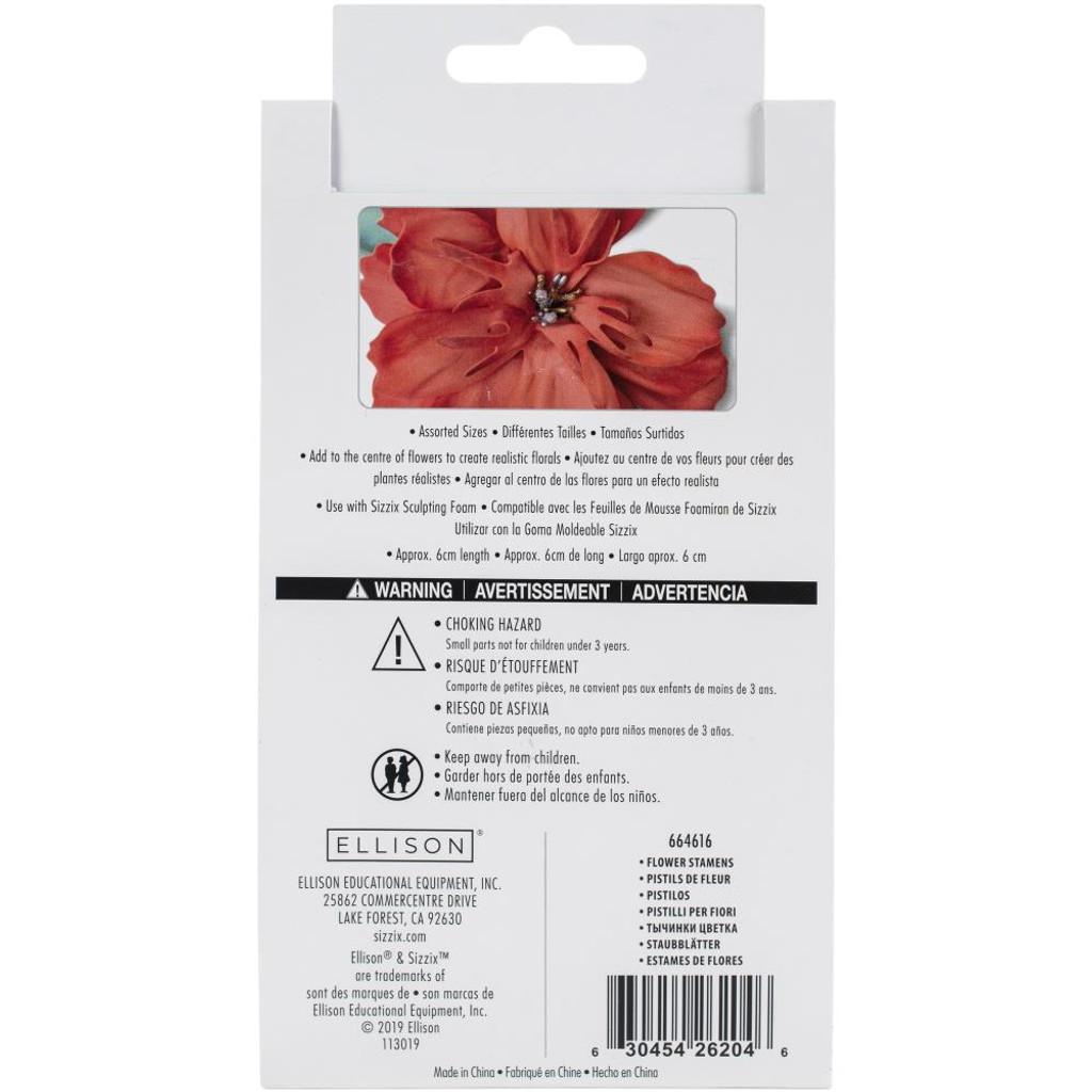Sizzix Making Essential Flower Stamens 300/Pkg - Metallic (664616)