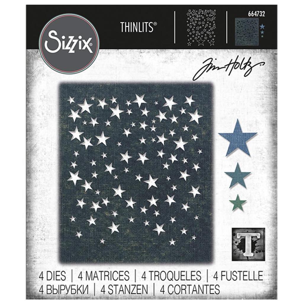 Sizzix Thinlits Die Set 4PK - Falling Stars by Tim Holtz (664732)