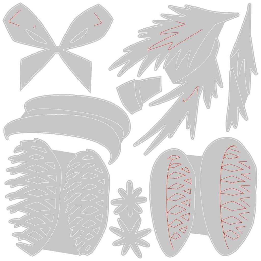 Sizzix Thinlits Die Set 8PK - Festive Trims, Colorize by Tim Holtz (664733)