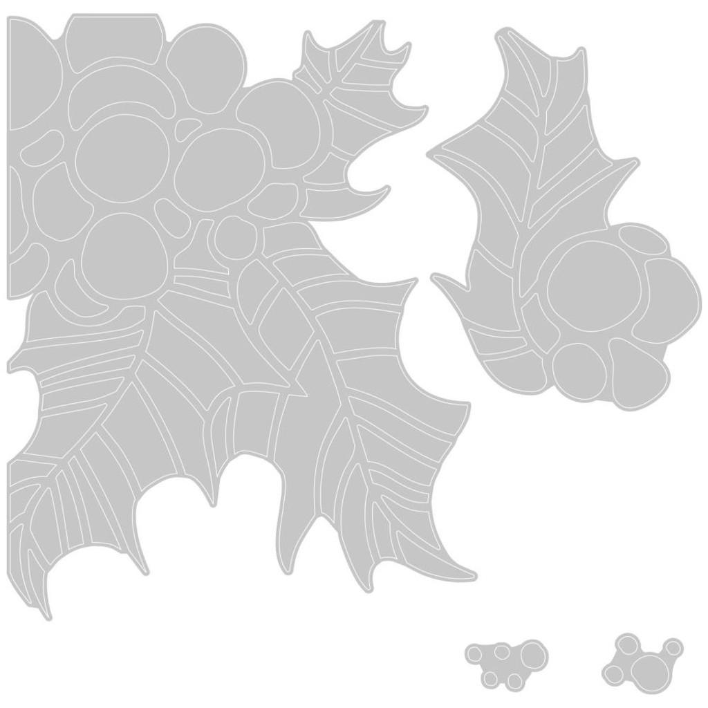Sizzix Thinlits Die Set 4PK - Holly Pieces by Tim Holtz (664738)