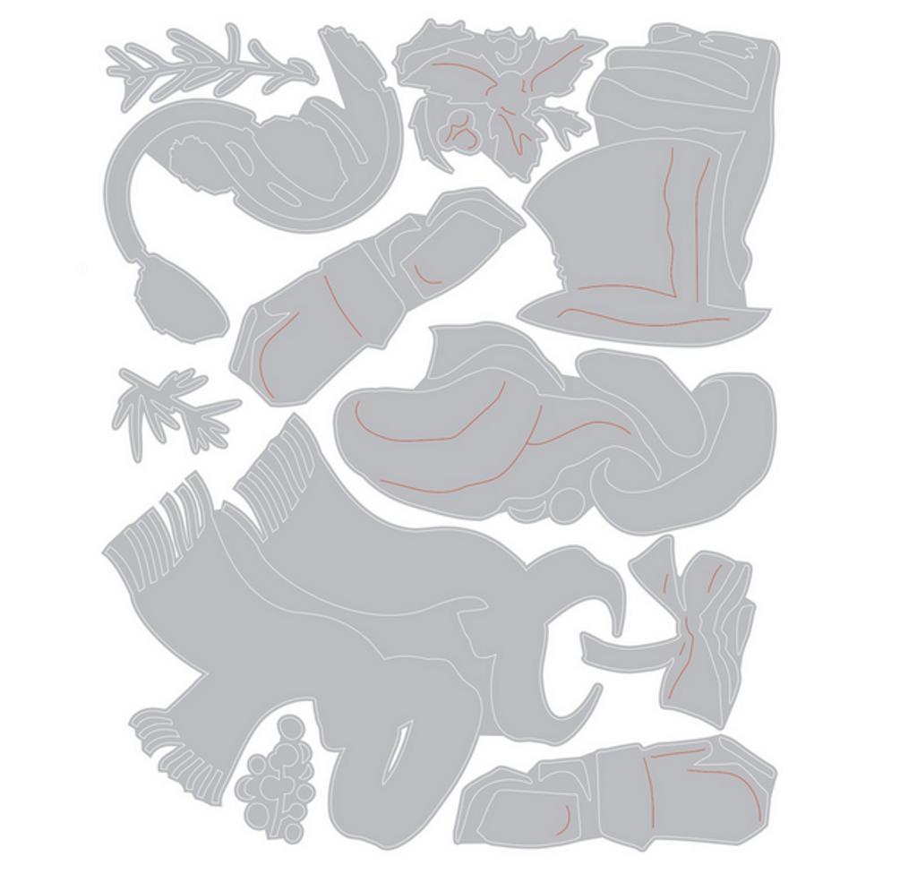 Sizzix Thinlits Die Set 9PK - Winter Wardrobe by Tim Holtz (664754)