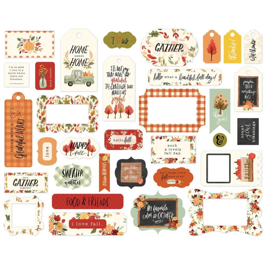 Carta Bella - Frames and Tags Ephemera -- Hello Autumn (EA122025)