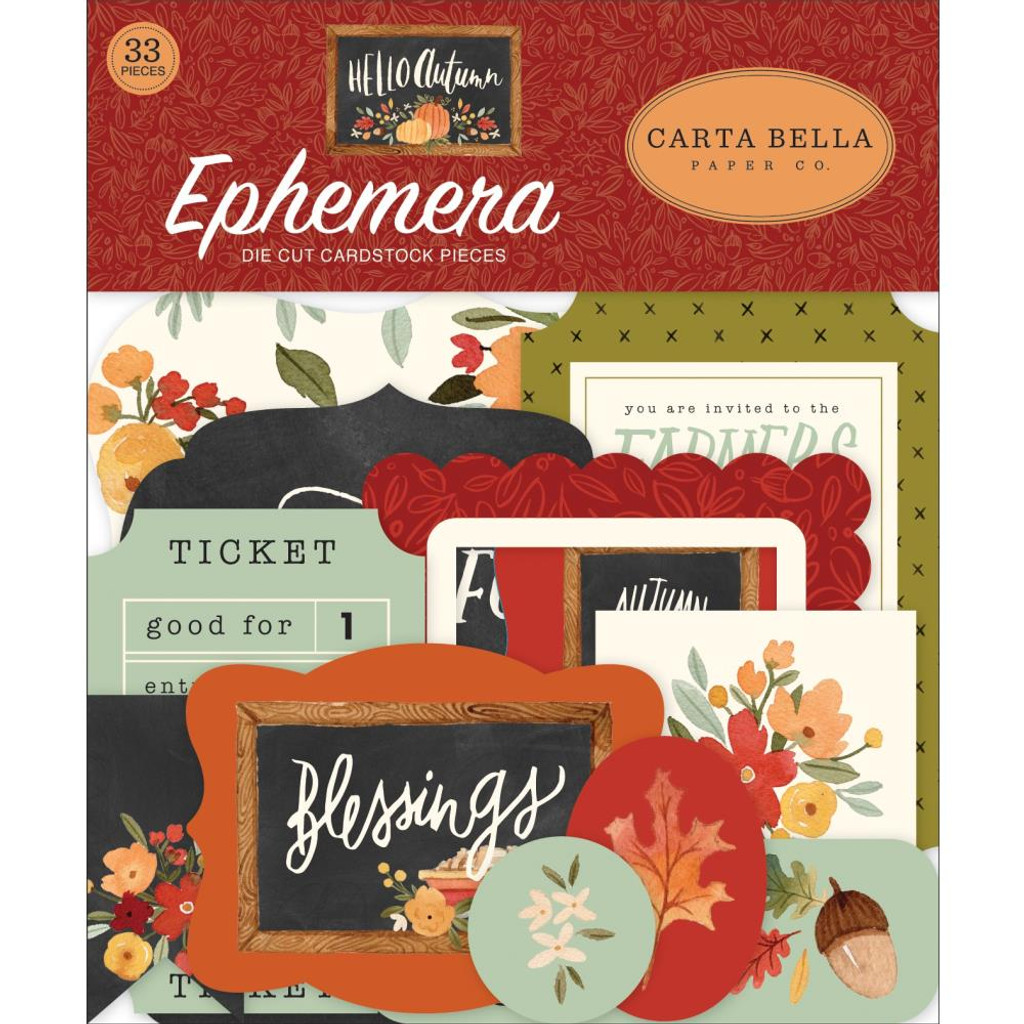Carta Bella - Ephemera Die Cuts 33/Pkg - Hello Autumn (EA122024)