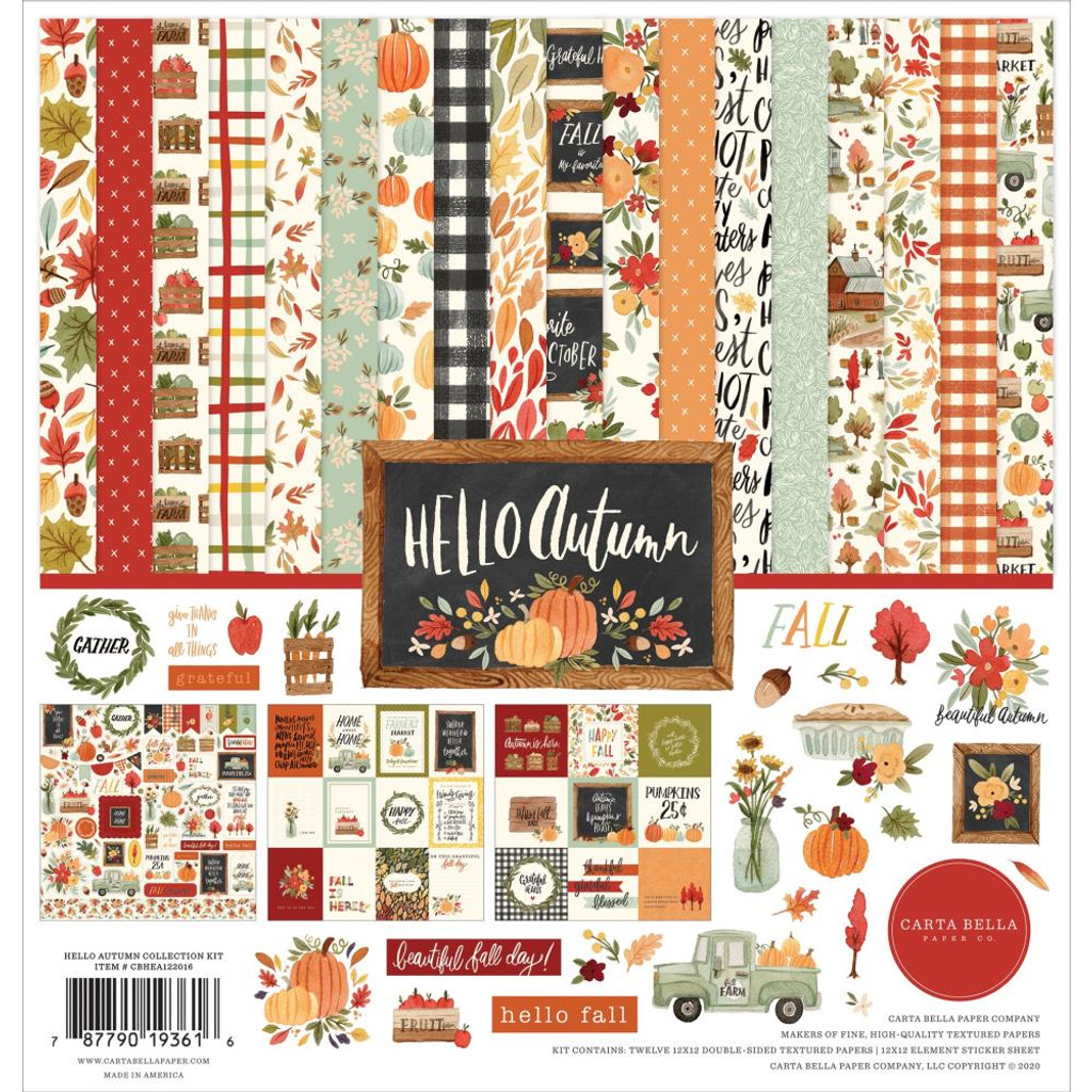 "Carta Bella - Collection Kit 12""x12"" - Hello Autumn (EA122016)"