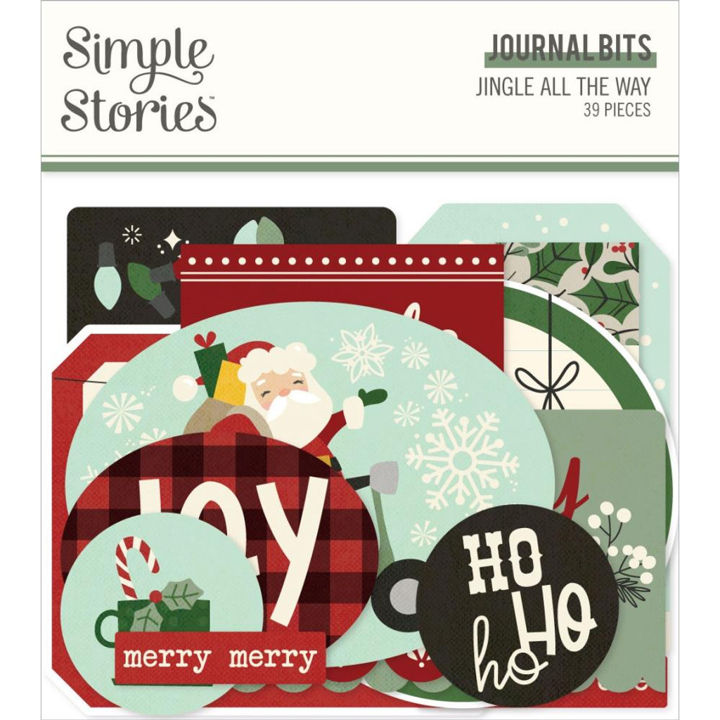 Simple Stories - Bits and Pieces- Journal - Jingle All The Way (JGL13717)