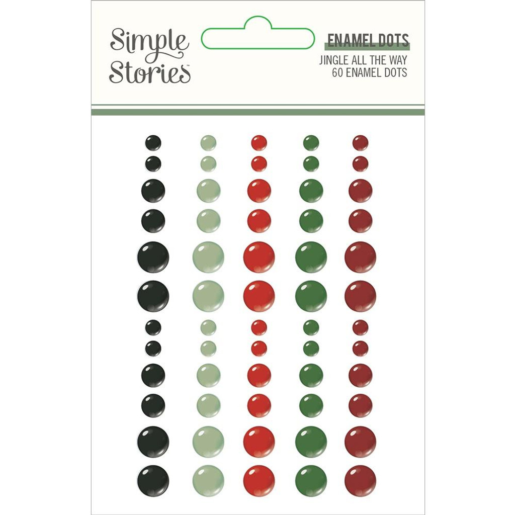Simple Stories - Enamel Dots- Jingle All The Way (JGL13724)