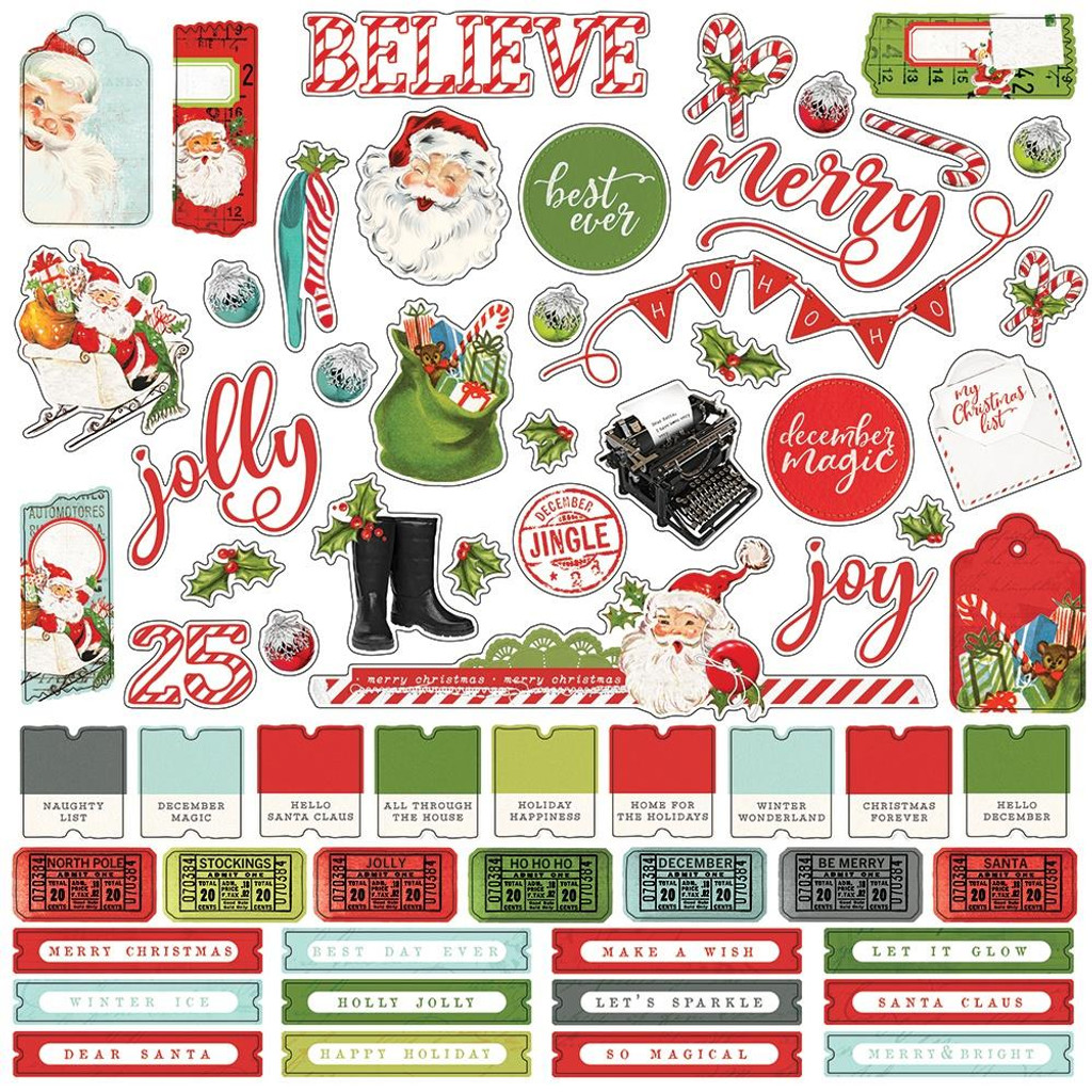 Simple Stories - Cardstock Element Sticker 12x12 - North Pole (VNP13601)