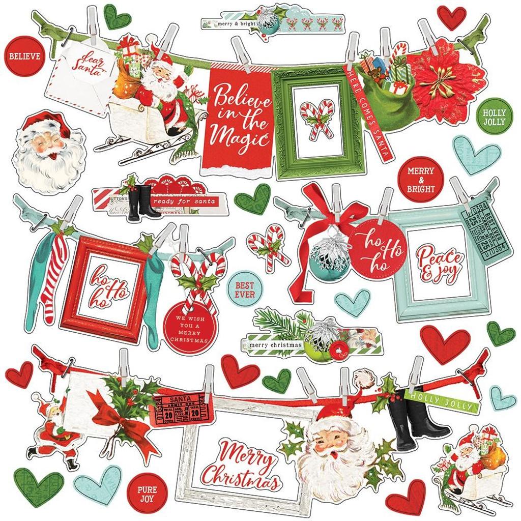 Simple Stories - Cardstock Border Sticker 12x12 - North Pole (VNP13602)