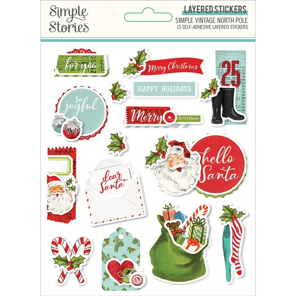 Simple Stories - Layered Stickers - North Pole (VNP13627)