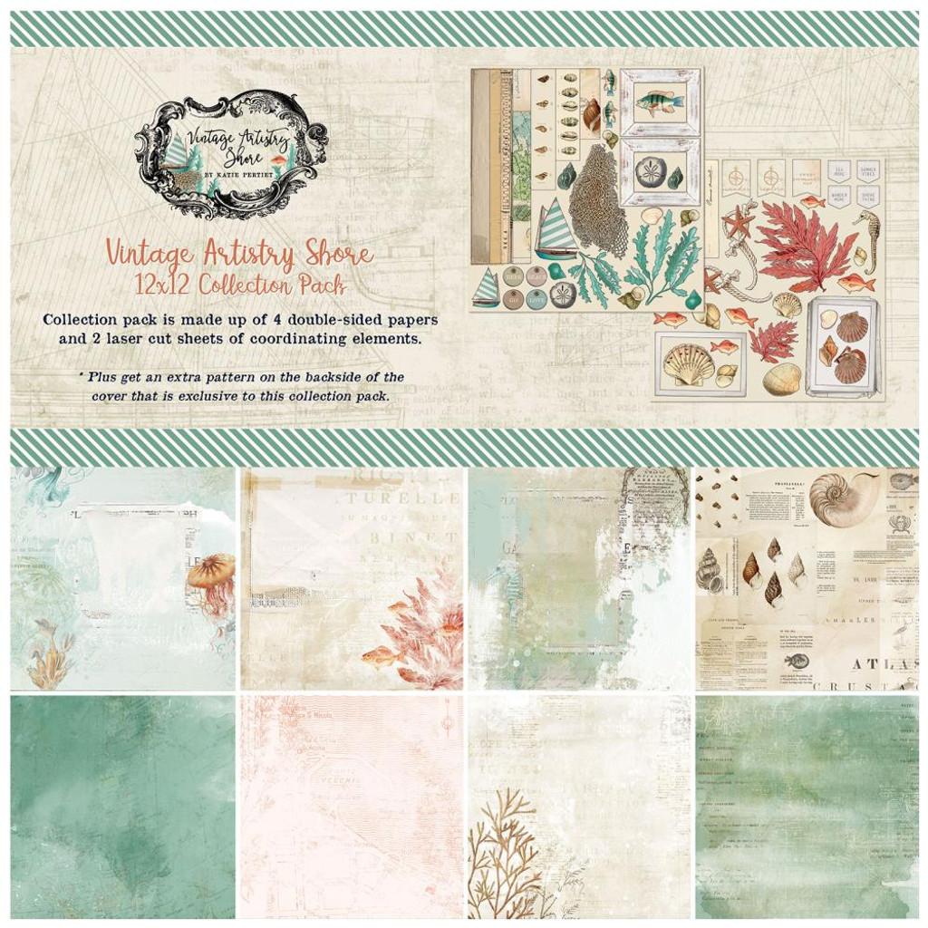 49 and Market - Scrapbooking Paper Pack 12x12 - Vintage Artistry Shore (VAS32921)