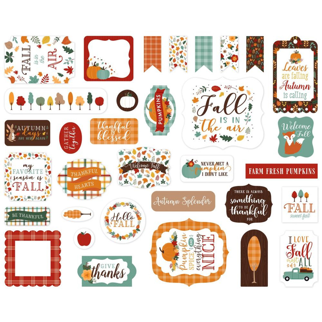 Echo Park - Cardstock Ephemera 33/Pkg - Happy Fall (AP219024)
