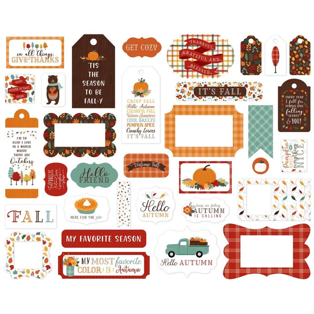 Echo Park - Cardstock Frames & Tags 33/Pkg - Happy Fall (AP219025)
