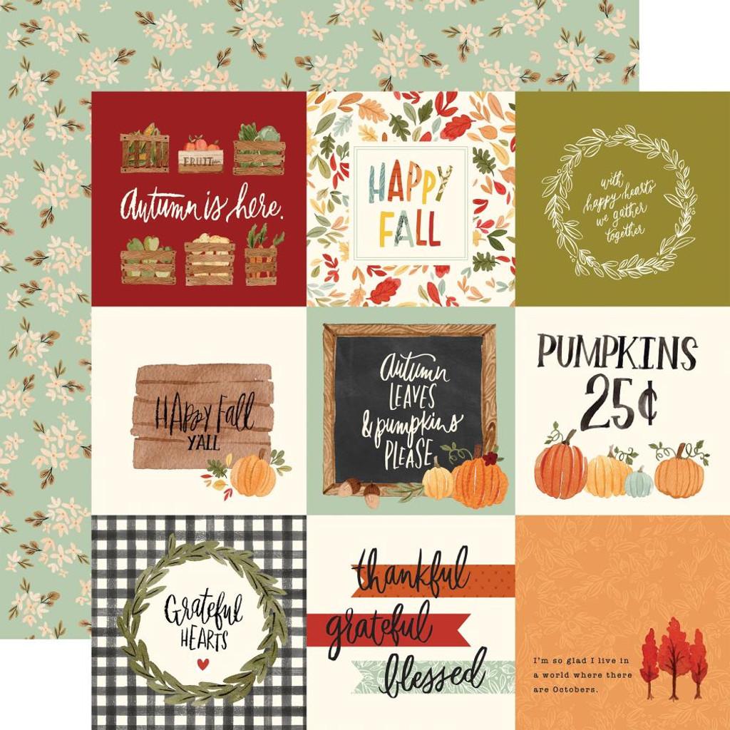 "Carta Bella - Collection Kit 12""x12"" - Hello Autumn - 4x4 Journaling Cards (CBHEA122 11)"