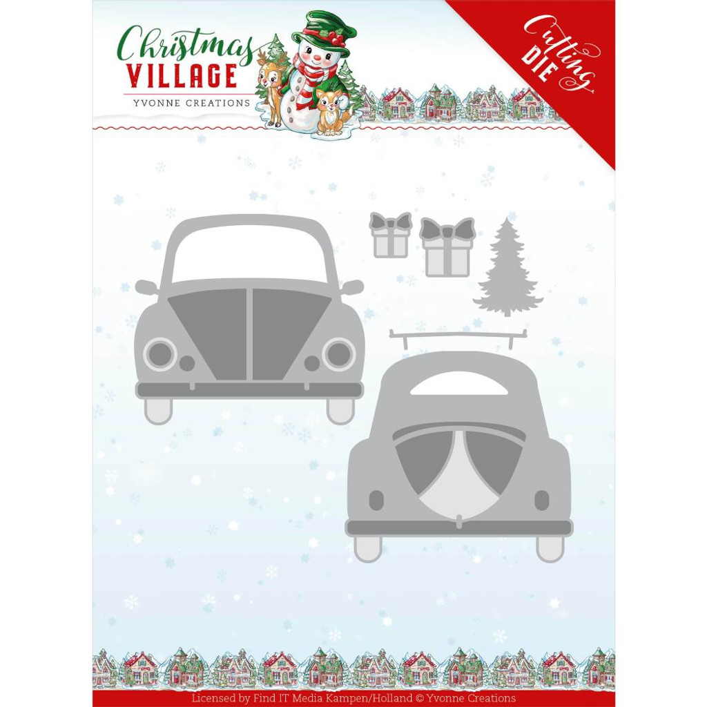 Find It Trading - Yvonne Creations Die - Christmas Village - Christmas Car (YCD10207)