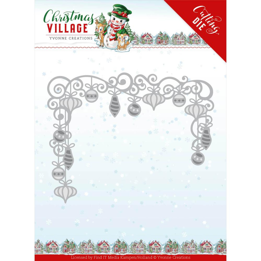 Find It Trading - Yvonne Creations Die - Christmas Village - Christmas Baubles (YCD10211)