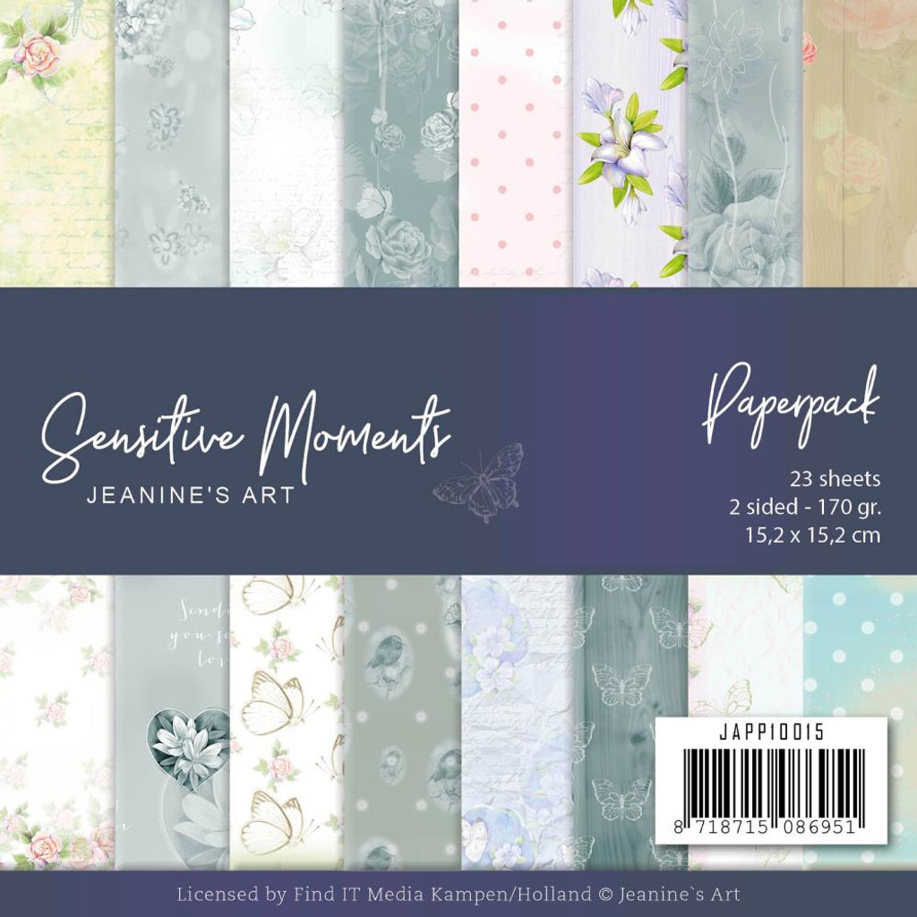 "Find It Trading - Jeanine's Art - Sensitive Moments - Dbl Sided Paper Pack 6""X6"" 23/Pkg (JPP10015)"