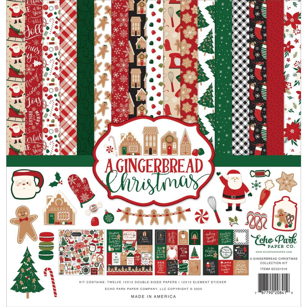 Echo Park - Double Sided Cardstock Collection Pack 12x12 - A Gingerbread Christmas (GC221016)
