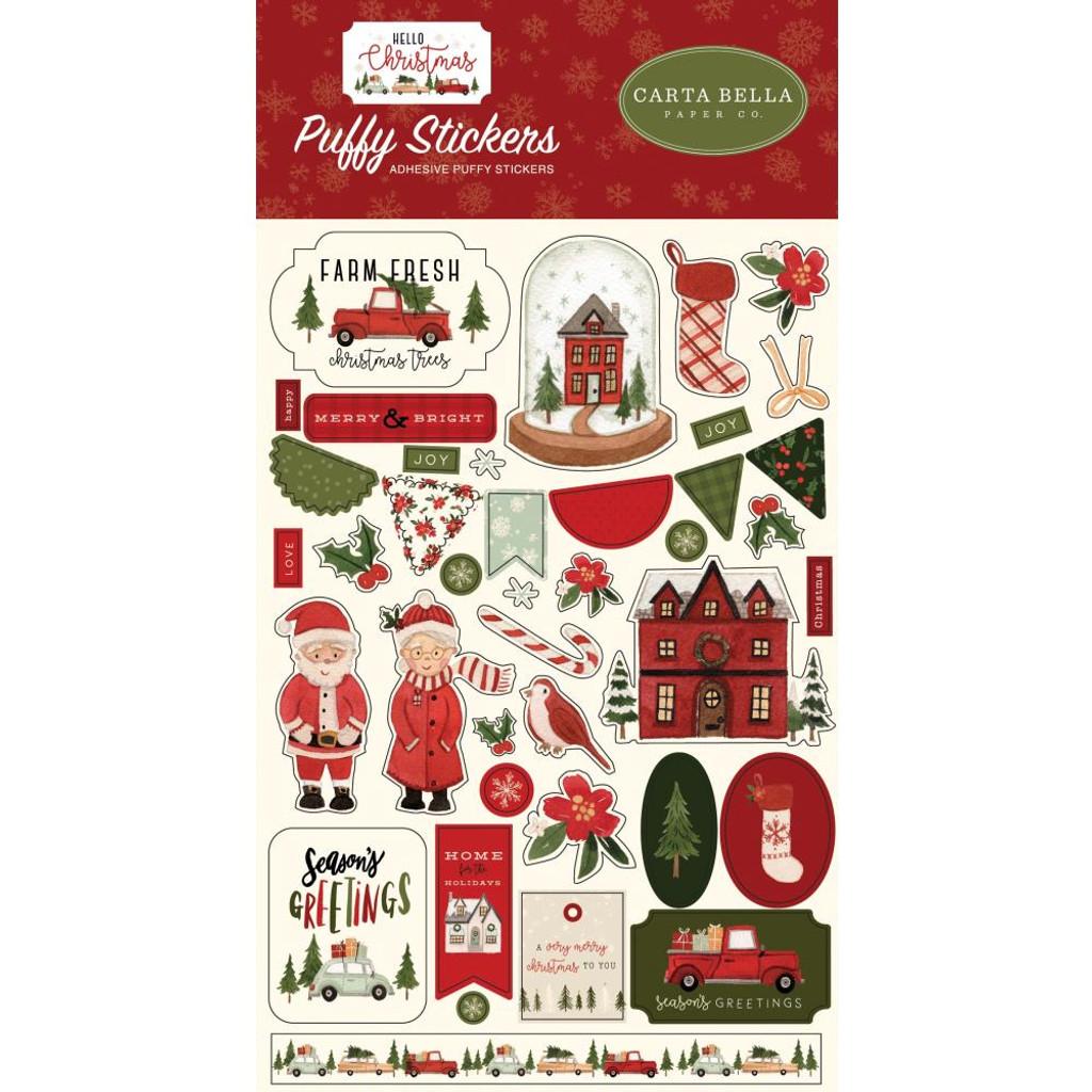 Carta Bella - Puffy Stickers - Hello Christmas (CBHC124066)