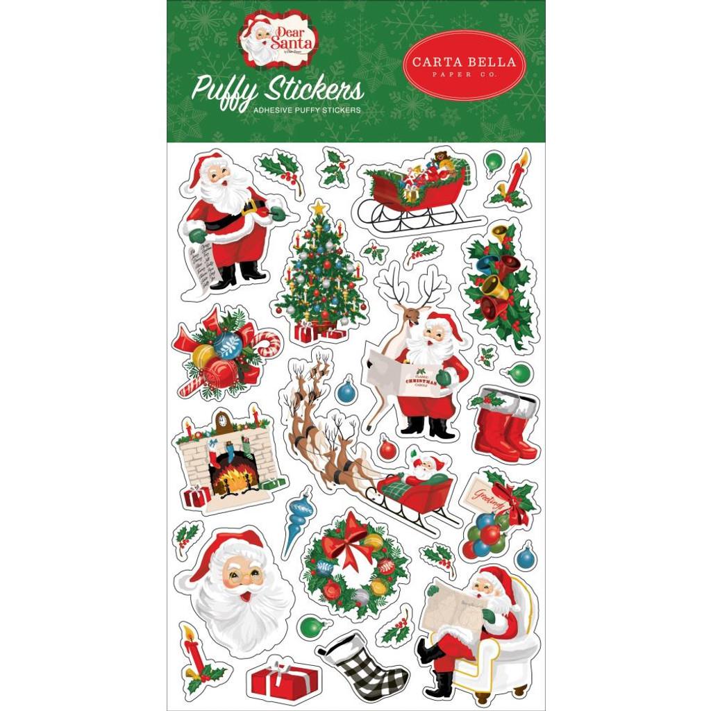 Carta Bella - Puffy Stickers - Dear Santa (DE125066)