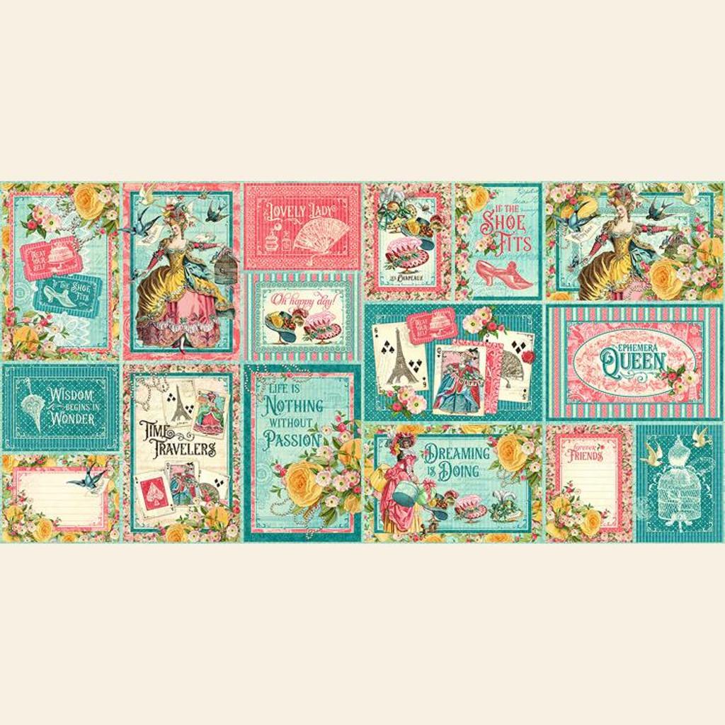 Graphic 45 - Ephemera & Journaling Cards - Ephemera Queen (G4502108)