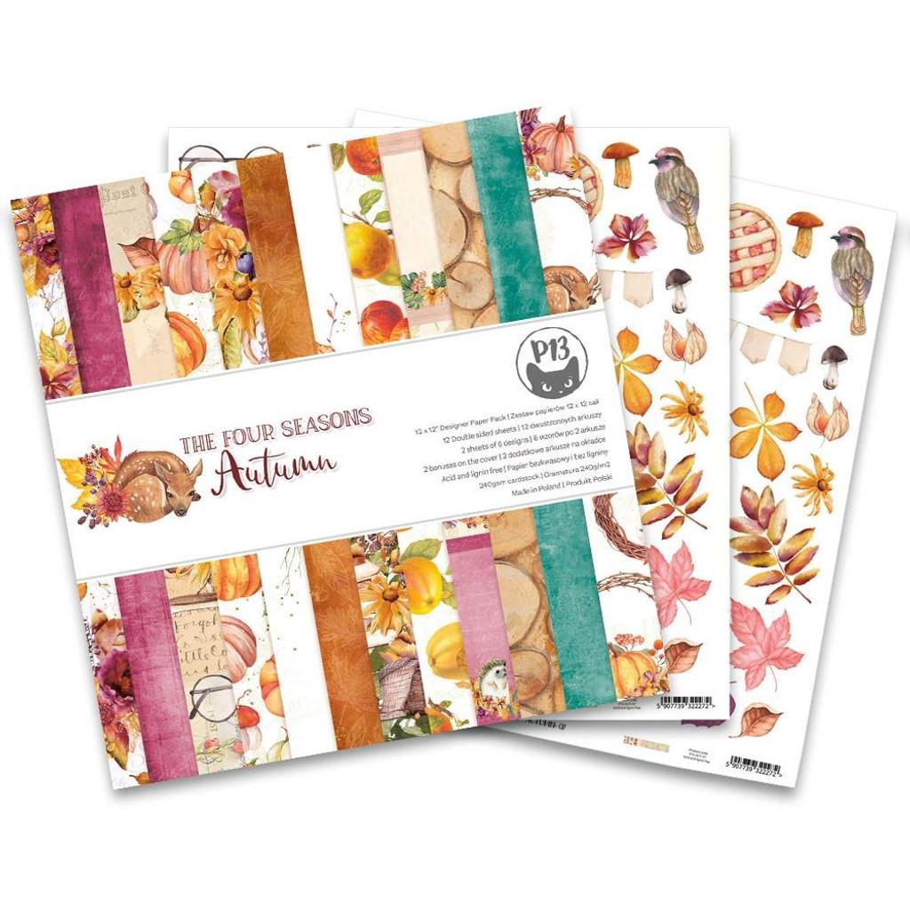P13 - Paper Pad 12x12 - The Four Seasons - Autumn (P13AUT08)