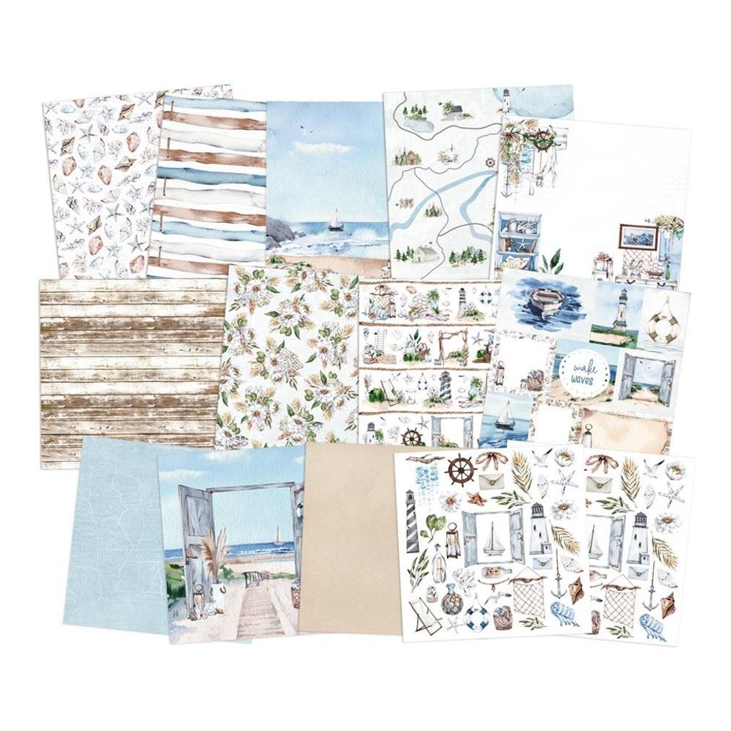 P13 - Paper Pad 6x6 24/Pkg - Beyond The Sea (P13SEA09)