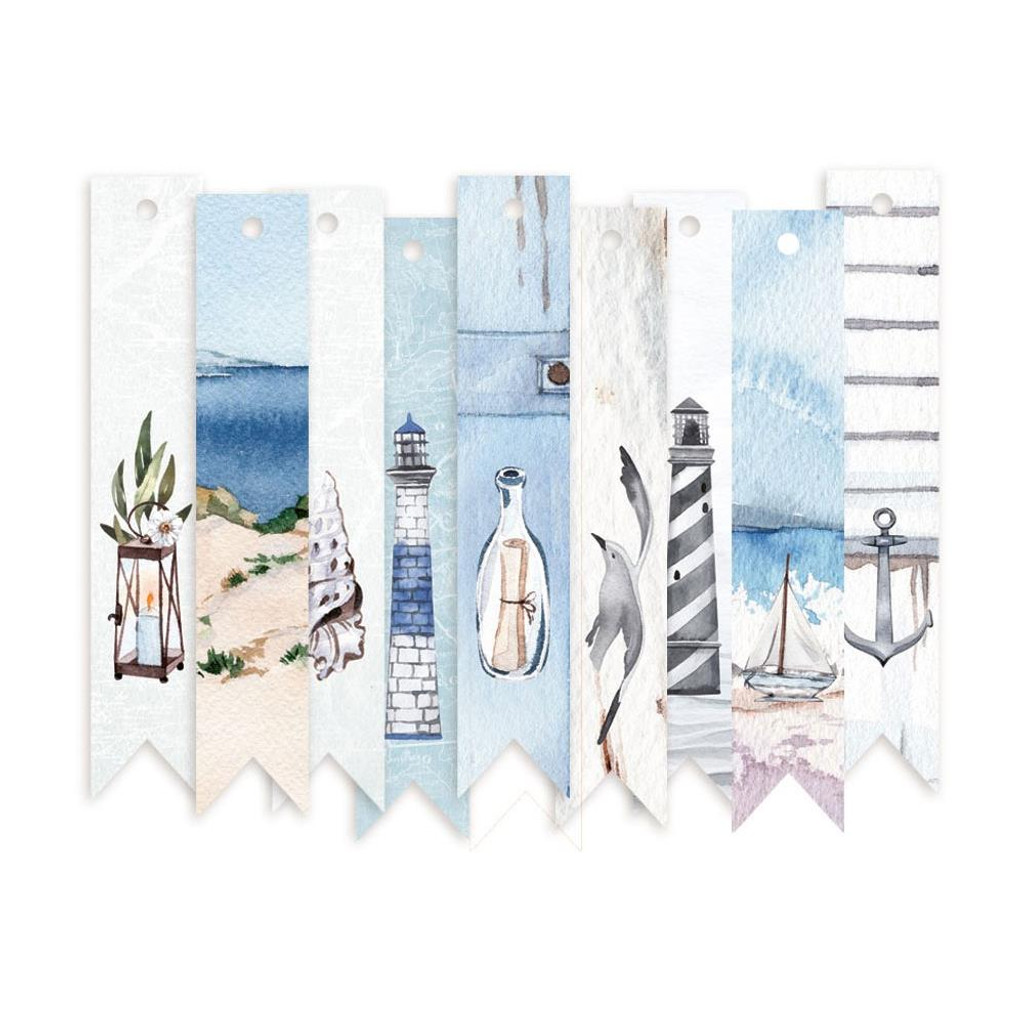 P13 - Decorative Tags 9/Pkg - Beyond The Sea - #03 Banners (P13SEA23)