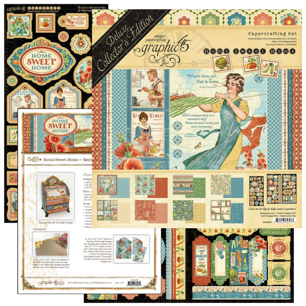 Club G45 -Volume 09 2020 - Home Sweet Home - Recipe Box and Divider Cards (Club G45 Vol9 2020/Project)