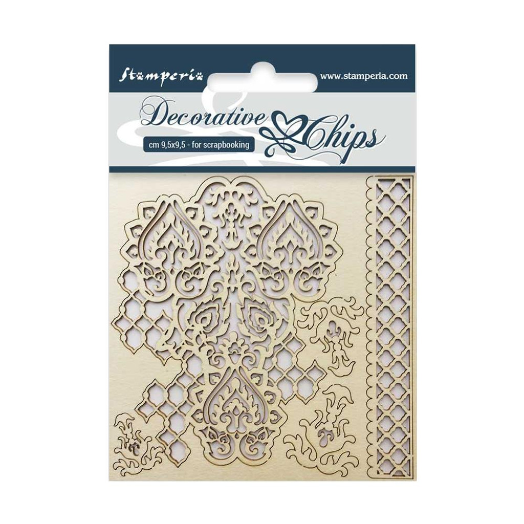 """Stamperia - Decorative Chips 3.75""""X3.75"""" - Winter Tales (SCB3.5 - 09)"""