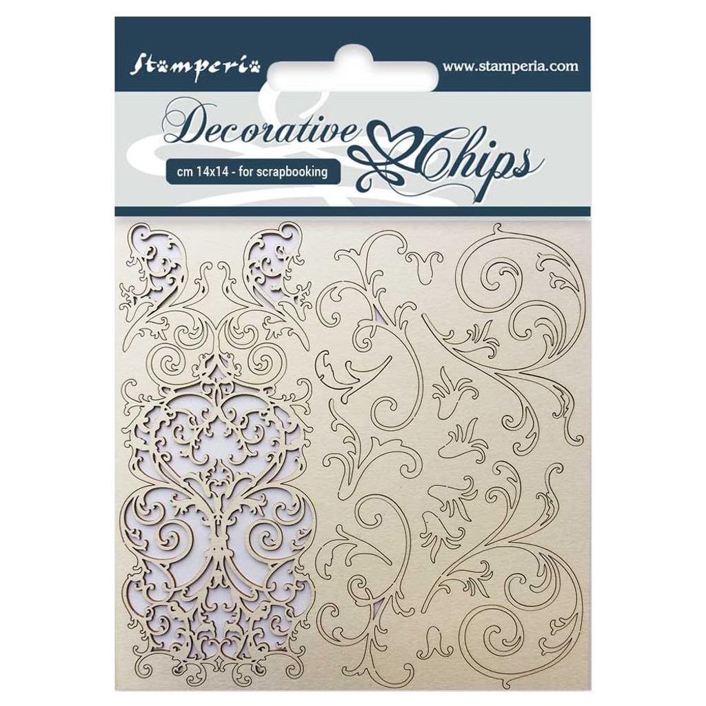 "Stamperia - Decorative Chips 5.5""X5.5"" - Tapestry (SCB5.5 15)"