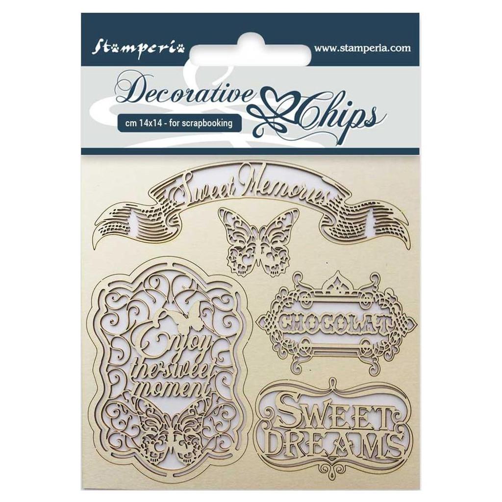 "Stamperia - Decorative Chips 5.5""X5.5"" - Sweet Memories ( SCB5.5 - 17)"