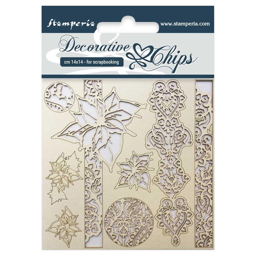 "Stamperia - Decorative Chips 5.5""X5.5"" - Winter (SCB5.5 - 18)"