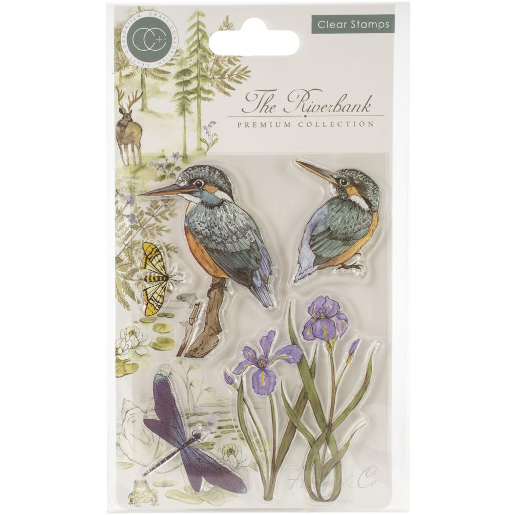Craft Consortium - A5 Clear Stamps - The Riverbank - Kingfisher (CSTMP010)