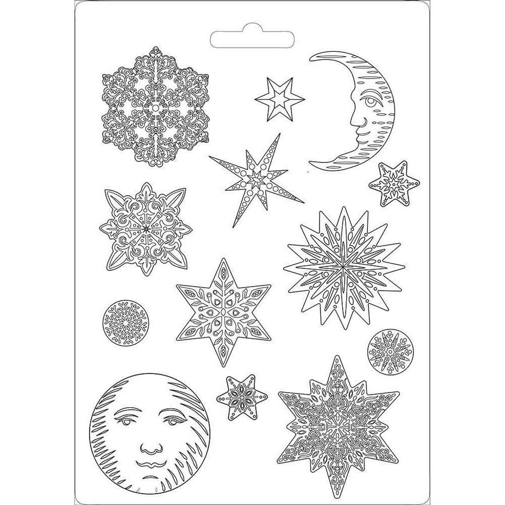 "Stamperia - Soft Maxi Mould A4 8.5""X11.5"" - Winter Tales - Snowflakes (K3PTA473 )"