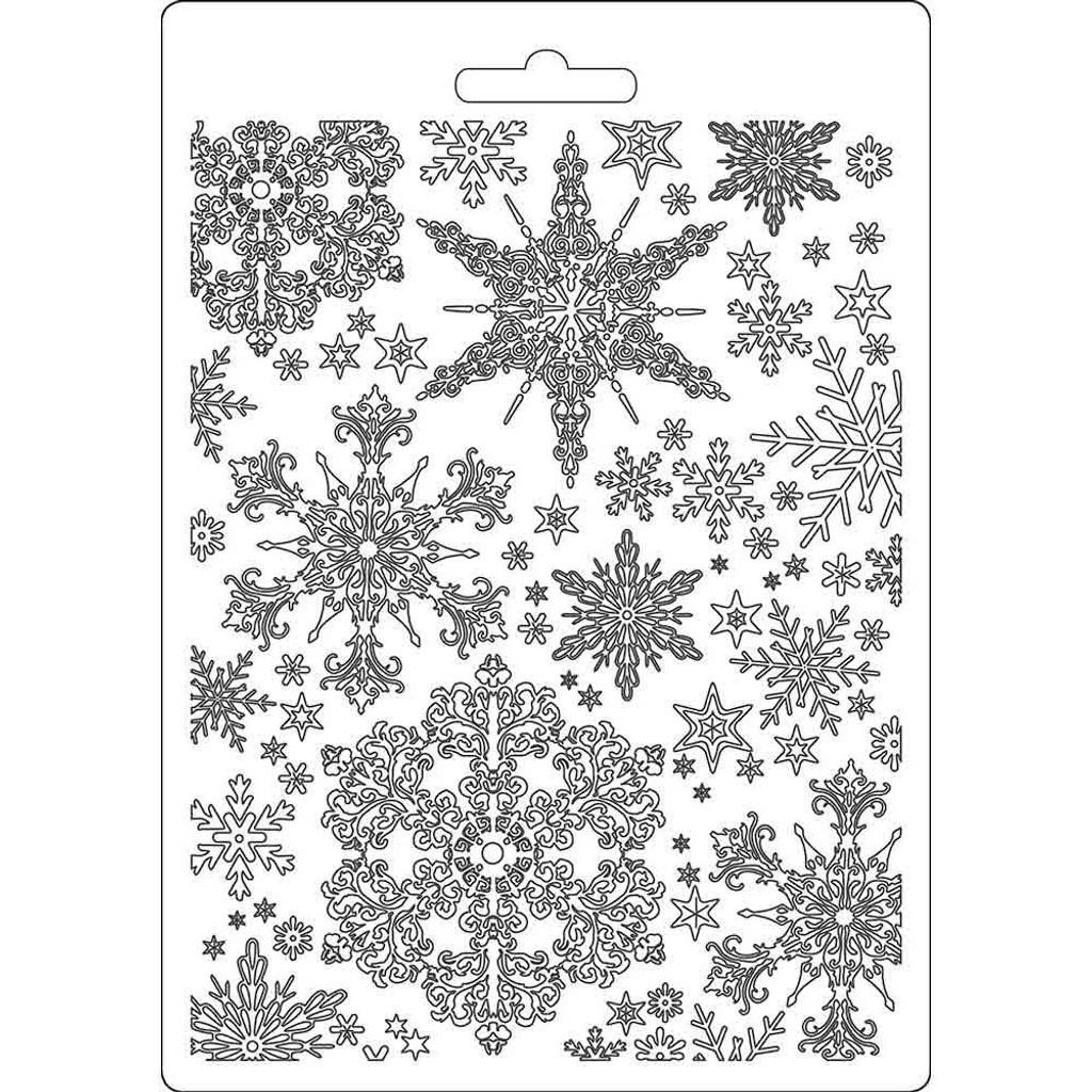 "Stamperia - Soft Maxi Mould A5 6""x 8.5"" - Winter Tales - Snowflakes (K3PTA556 )"
