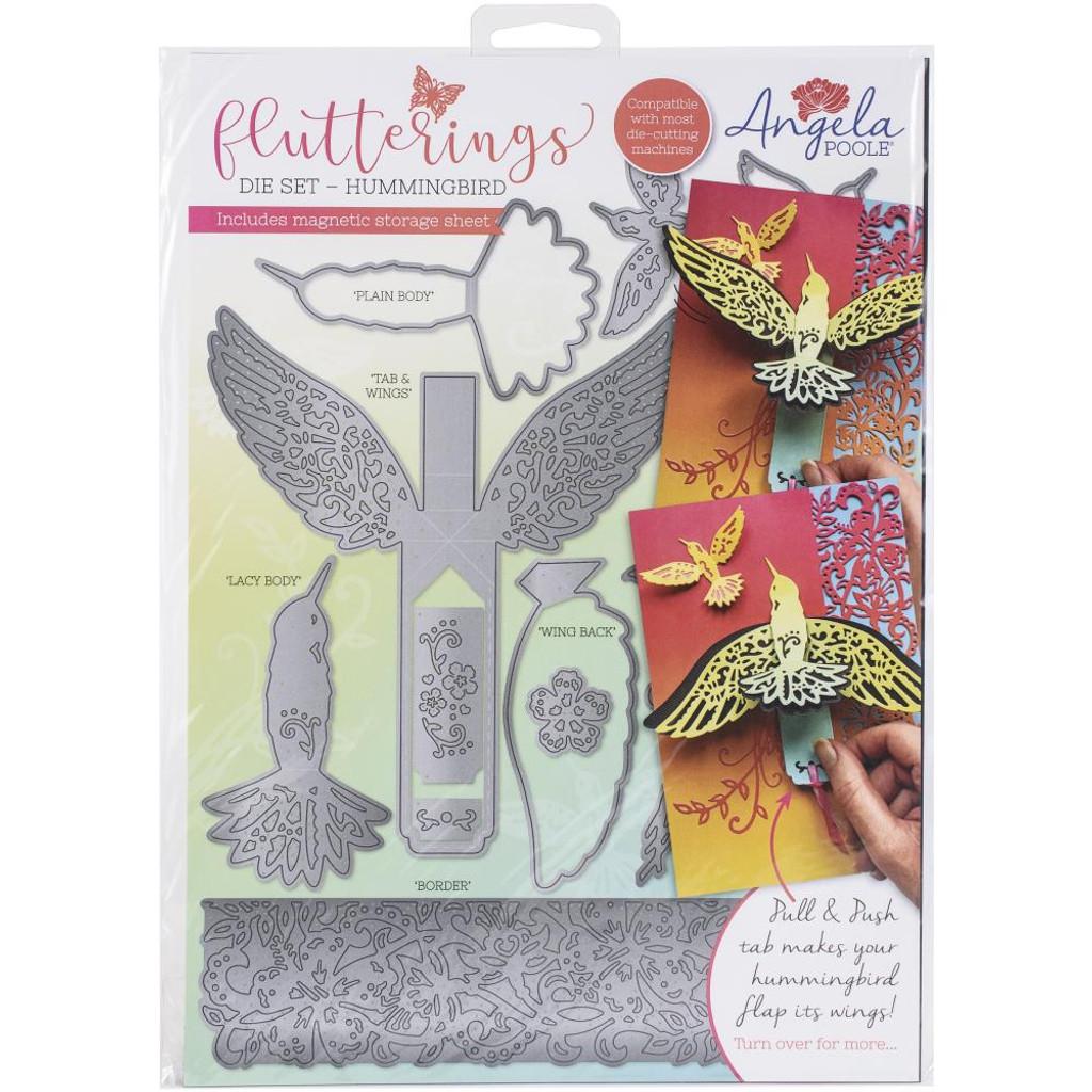 Angela Poole- Flutterings Die Set - Hummingbird (APFDSH02)