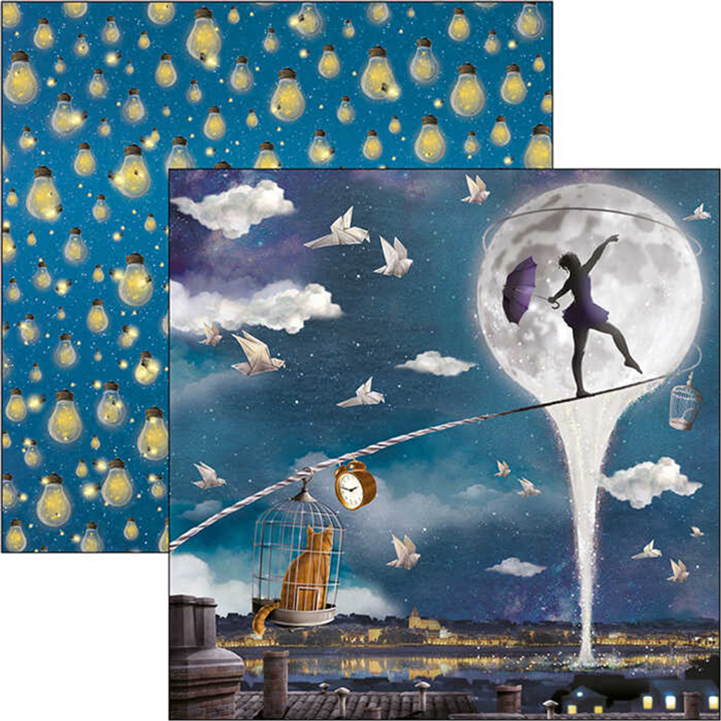Ciao Bella - Double-Sided Paper Pad 6x6 24/Pkg - Moon & Me (CBQ040)