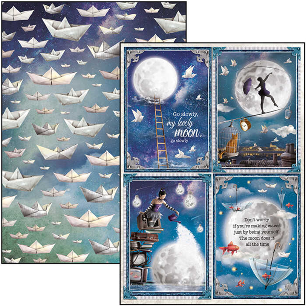 Ciao Bella - Double-Sided Creative Pack A4 9/Pkg - Moon & Me (CBCL040)