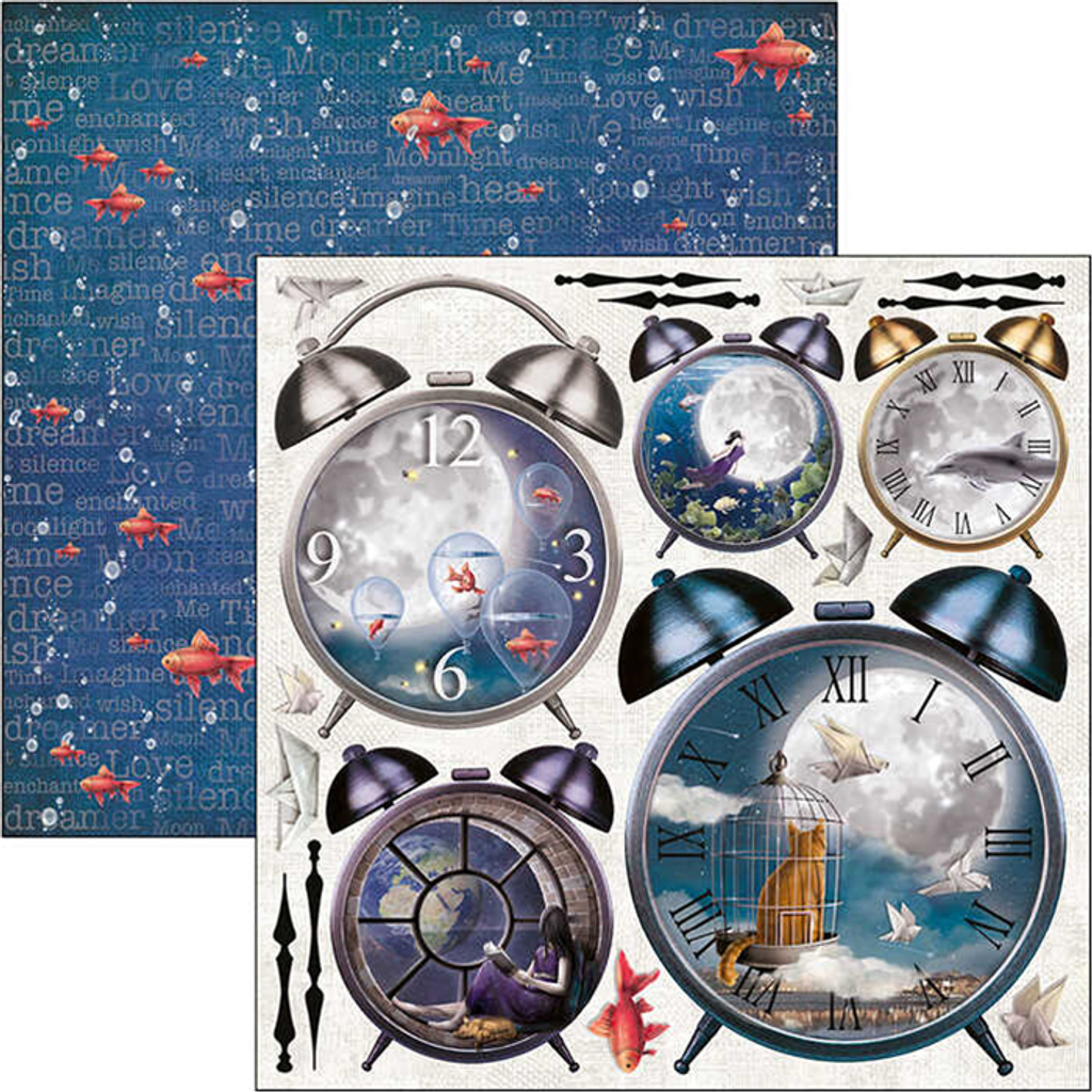 """Ciao Bella - Sided Paper Pack 12""""X12"""" 11/Pkg - Moon & Me (CBPM040)"""