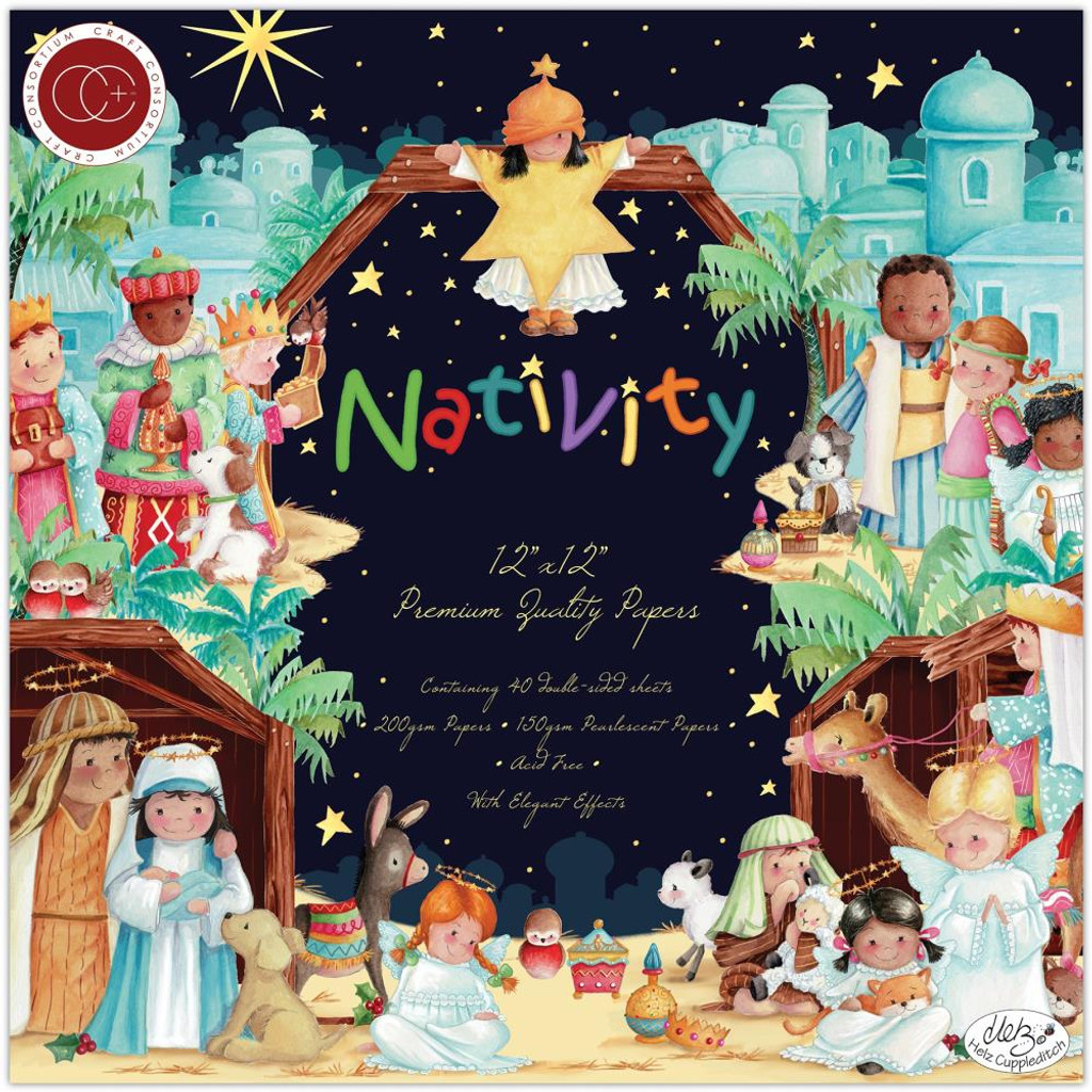 "Craft Consortium - Double-Sided Paper Pad 12""X12"" 40/Pkg - Nativity (PAD021)"
