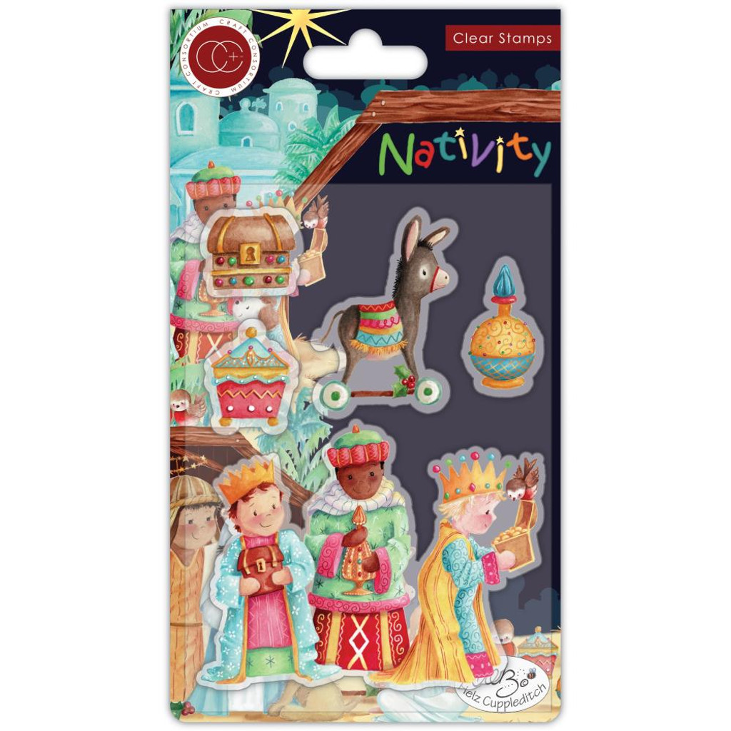 Craft Consortium -A5 Clear Stamps- Nativity - Wise Men (CSTMP048)
