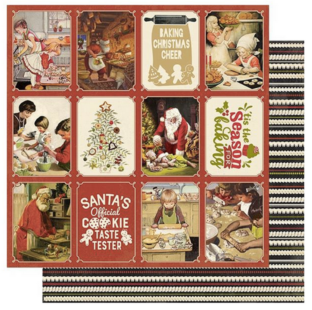 """Authentique - Double-Sided Cardstock 12""""X12"""" - Christmas Greetings - #5 Cookies & Baking (CMG12 005)"""