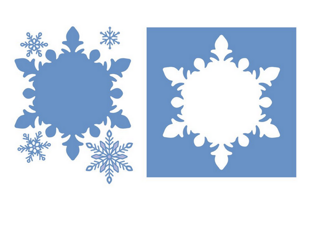 Crafter's Companion - Metal Die - Glittering Snowflakes - Frosted Window (GSMDFRWI)