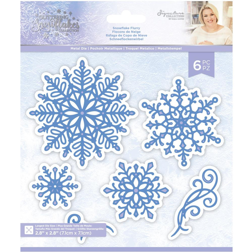 Crafter's Companion - Metal Die - Glittering Snowflakes -Snowflake Flurry (GSMDSNFL)