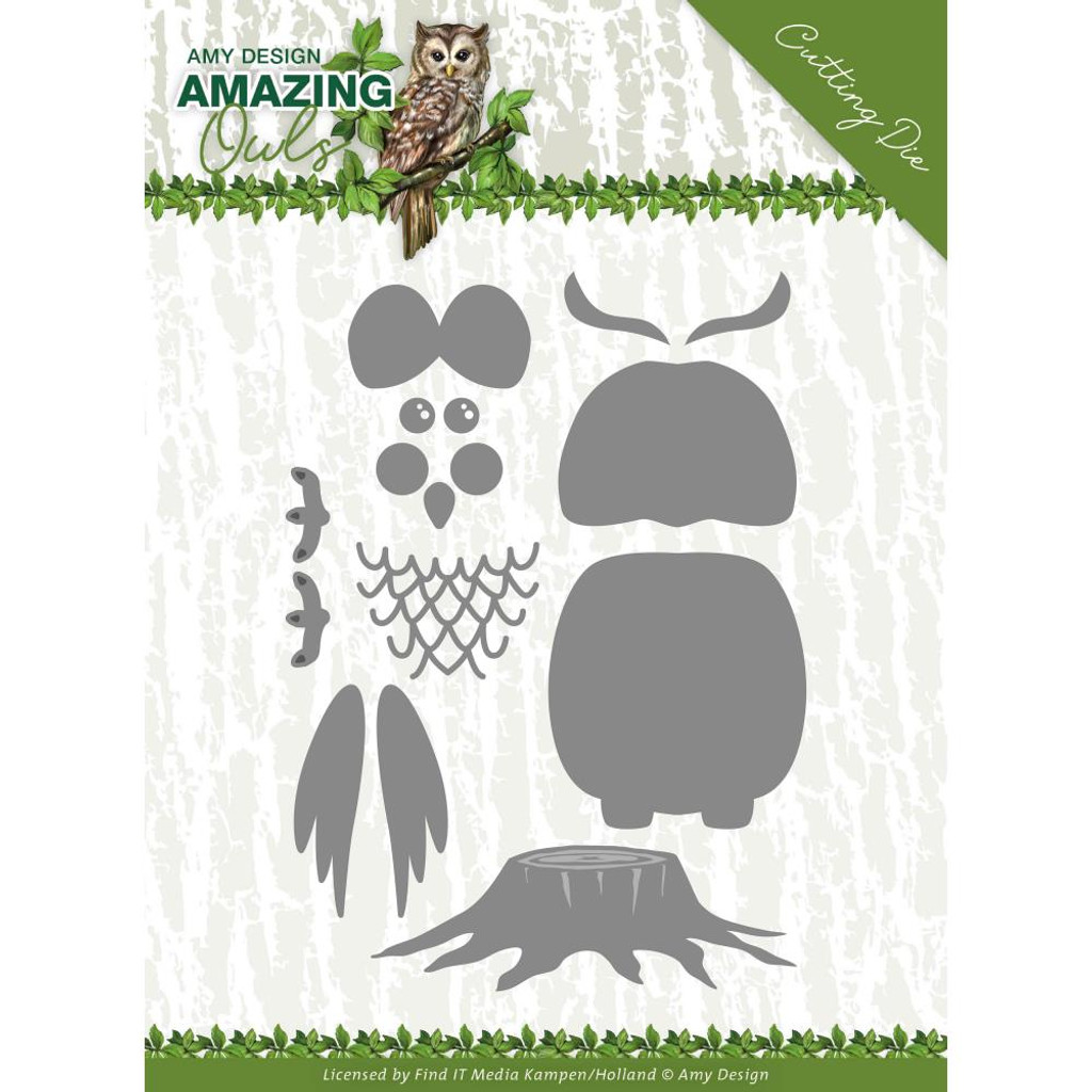 Find It Trading - Amy Design - Metal Die - Amazing Owls - Build Up Owl (ADD10216)