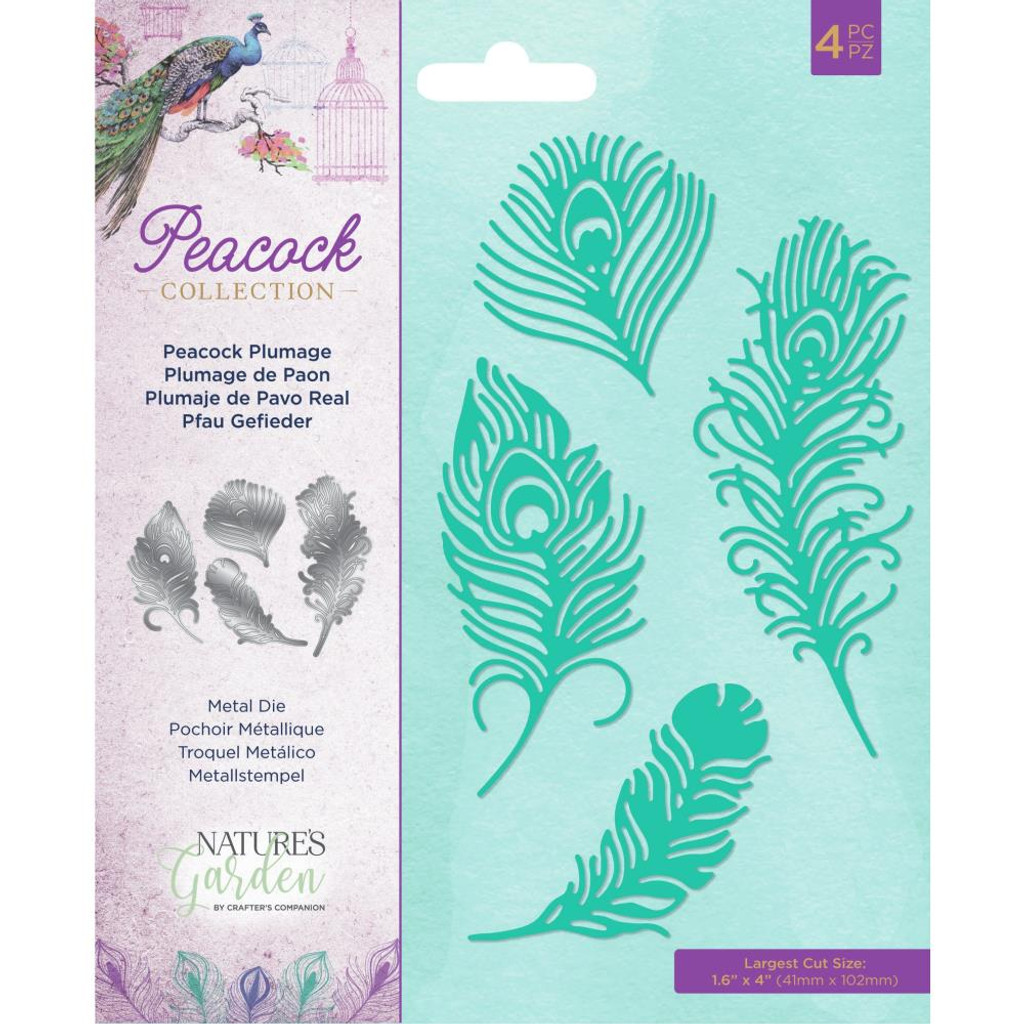 Crafter's Companion - Metal Die - Nature's Garden - Peacock - Peacock Plumage (EAMDPPLU)